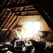 The farm's great old attics contained many period pieces, some of which were restored for the guest suites.